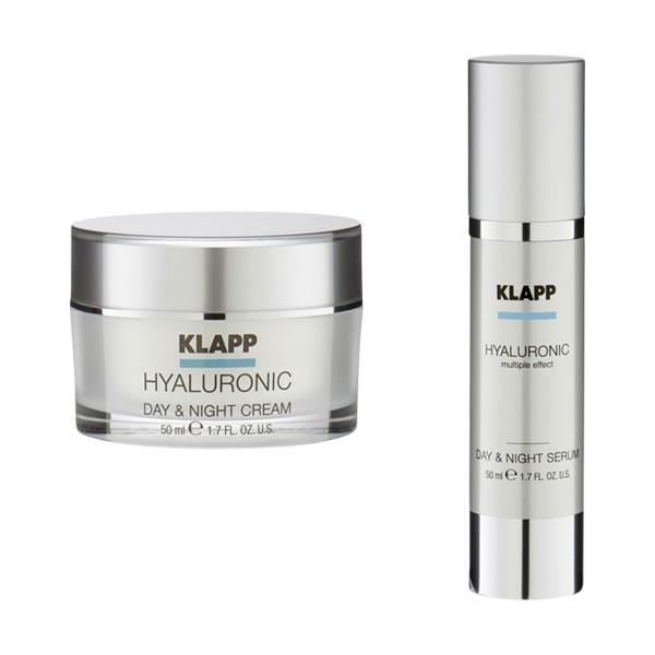 KLAPP Hyaluronic Face Care Set Day &; Night Cream & Night Serum