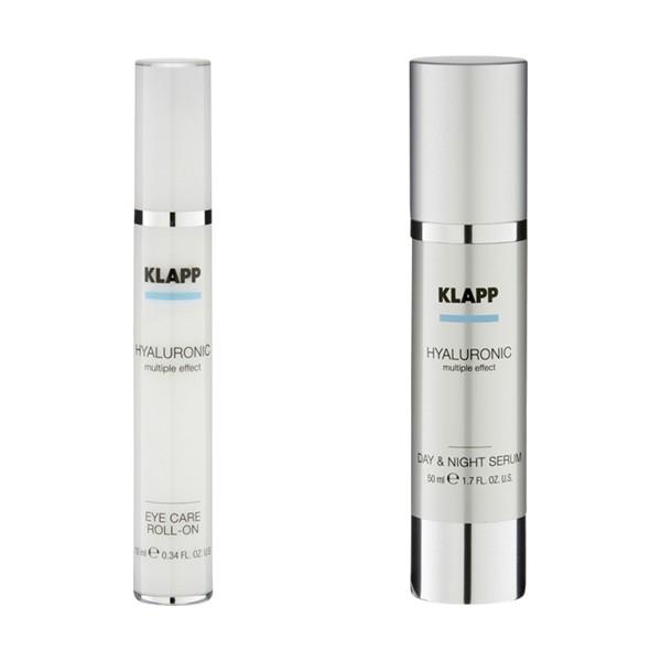 KLAPP Hyaluronic Set Day und Night Serum Eye Care Roll-On