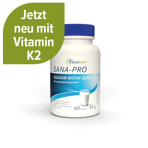 Bodymed SANA PRO Calcium Biotin D3 60