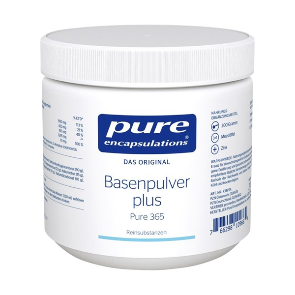 PURE ENCAPSULATIONS Basenpulver plus mit Zink